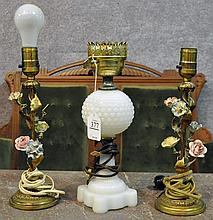 Three Small Table Lamps