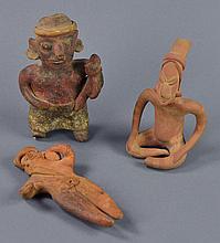 Three Pre-Columbian Style Pottery Figures