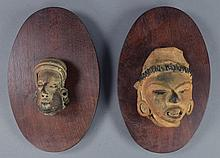 Two Pre-Columbian Style Pottery Heads