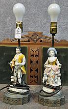 Pair of Figural Lamps