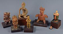 Six Pre-Columbian Style Pottery Pieces