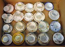 Bx Twenty Demitasse Cups with Matching Saucers