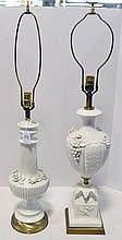 Two Classical Style Ceramic Lamps