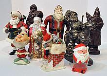 Bx Nine Santa Figurines