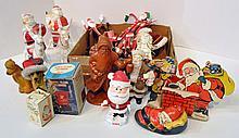 Two Bxs Santa Figures