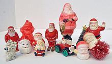 Bx Plastic Santa Figures