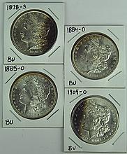 Four BU Morgan Dollars