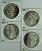 Four BU Morgan Dollars