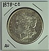 Very Scarce 1878-CC Morgan Dollar