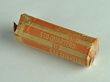 Roll of Circulated Washington Quarters