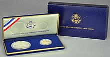 1987 Two-Coin Constitution Commem. Coin Set
