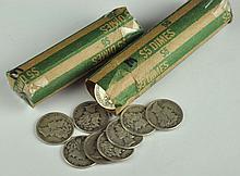 Two Rolls of Mercury Dimes