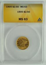1905 Gold $2 1/2 Liberty Coin