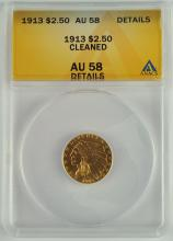 1913 Gold Indian $2 1/2 Coin
