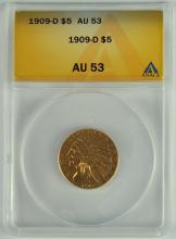 1909-D Gold Indian $5.00 Coin