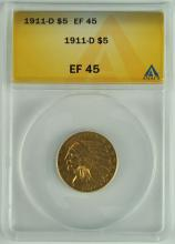 1911 Gold Indian $5.00 Coin