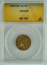 1909 Gold Indian $5.00 Coin