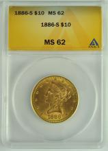 1886-S Gold Liberty $10.00 Coin
