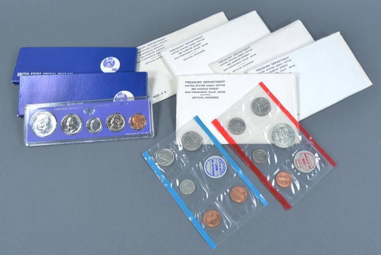Seven U.S. Mint Sets