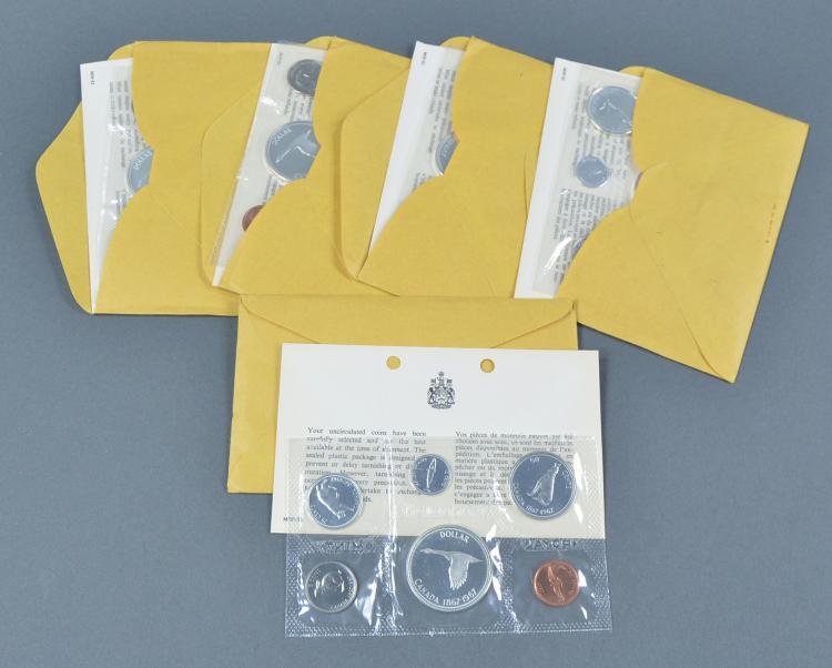 Five 1967 Canadian Mint Sets