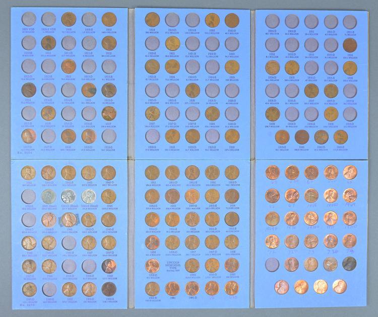 Partial Set Lincoln Cents, 1909-1975