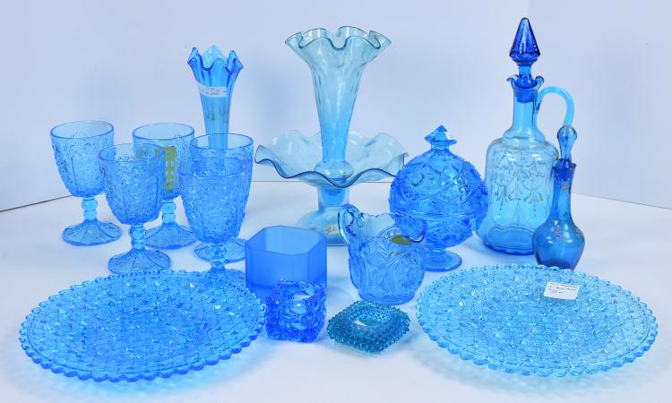 Bx Blue Pattern Glass