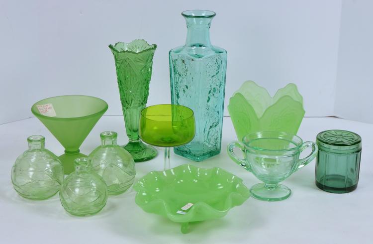 Bx Green Glassware
