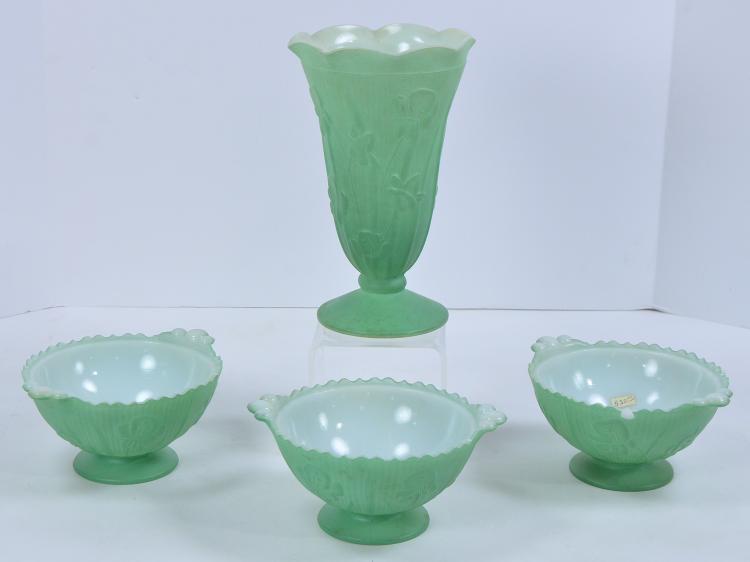 Four Pcs Depression Glass