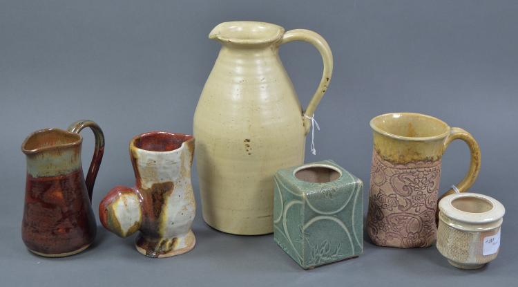 Six Pcs Handmade Pottery