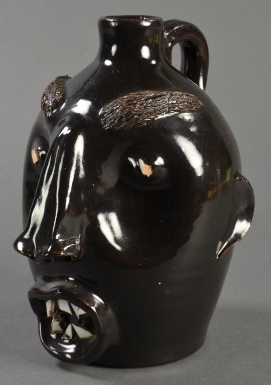 Erlan's Pottery North Carolina Face Jug
