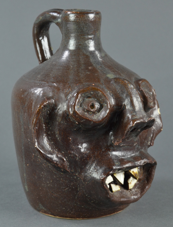 Erlan's Pottery North Carolina Face Jug