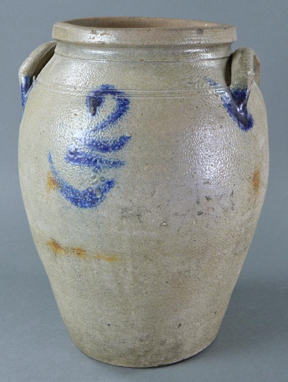 Schermerhorn Two Gallon Ovoid Stoneware Crock