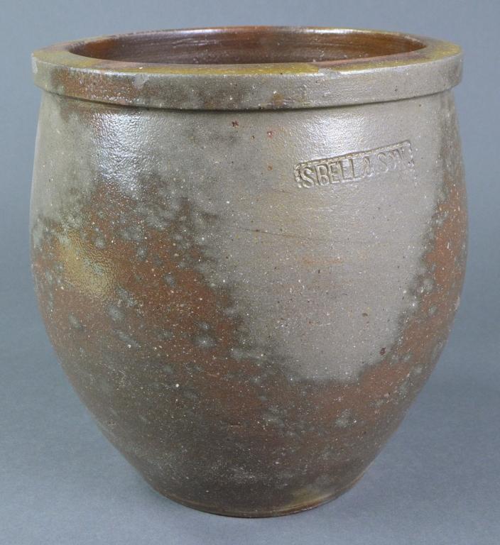 S. Bell & Son Virginia Grey Stoneware Crock