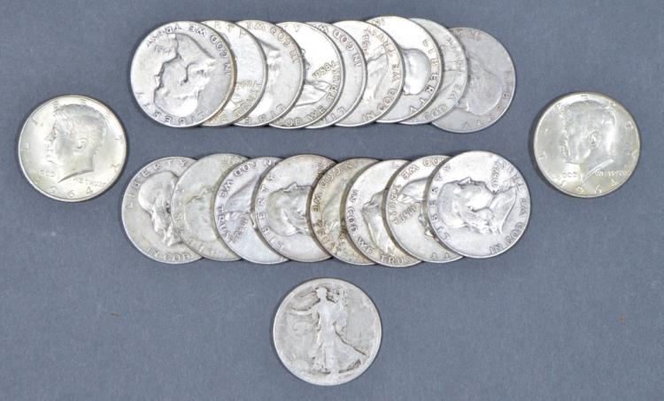 Mix Series Roll of 90% Silver Half Dollars