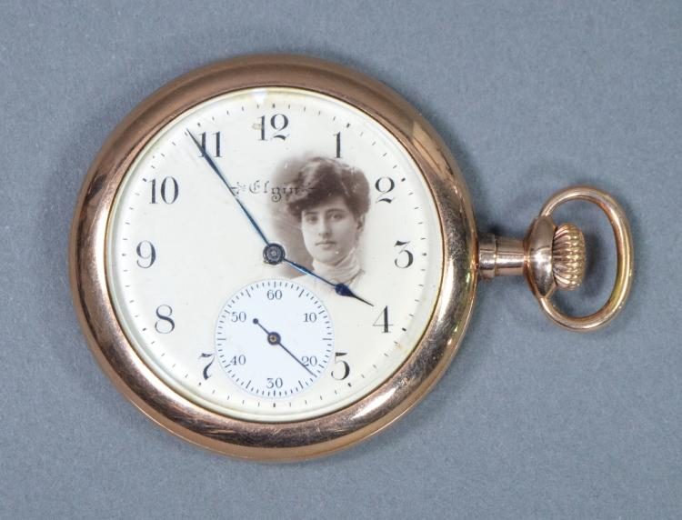 Elgin Pocket Watch with Photo Dial