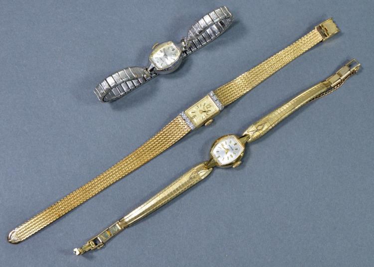 3 Ladies Mechanical Wrist Watches