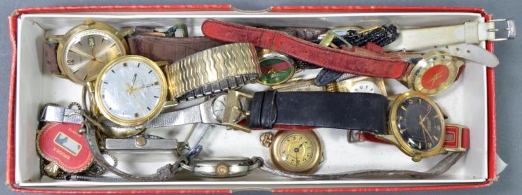 Box of Watches and Parts