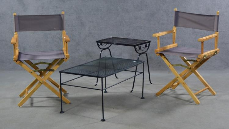 Pair Of Folding Canvas Director's Chairs