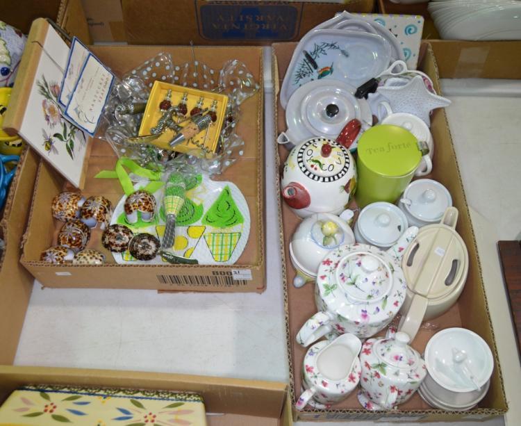 Two Bxs Misc. Porcelain Items & Serving Pieces
