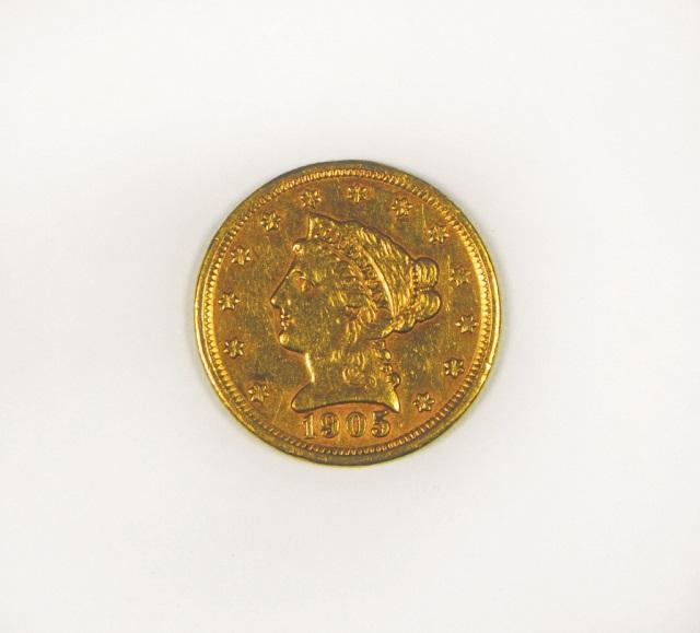 1905 Liberty 2 1/2 Dollar Gold Coin