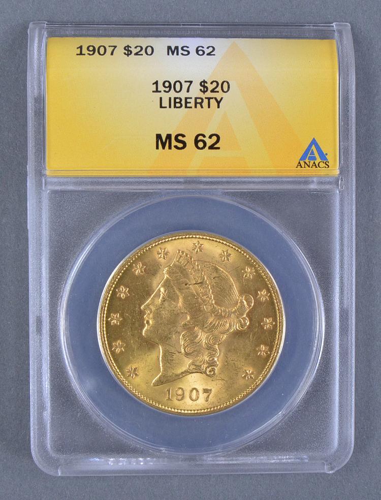 1907 Liberty $20 Gold Coin