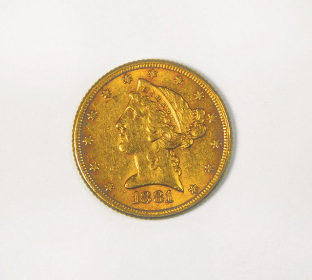 1881 Liberty $5 Gold Coin