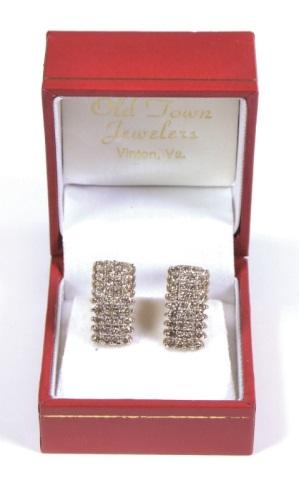 2 Carat Diamond Cluster 10K Gold Earrings