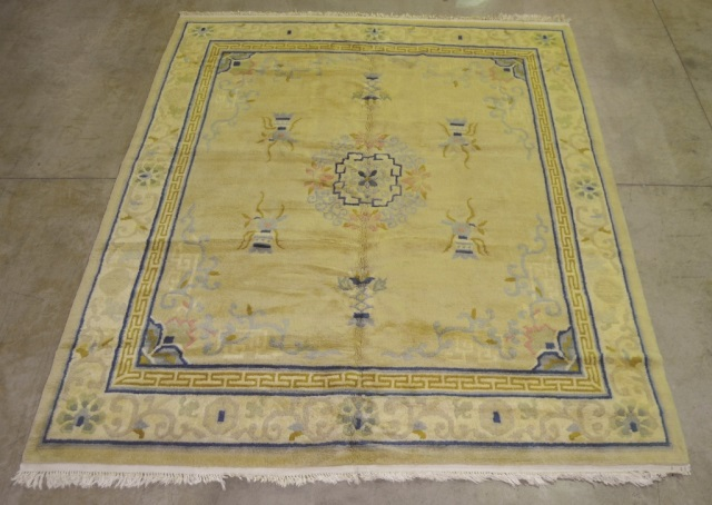 Chinese Style Indian Wool on Cotton Rug