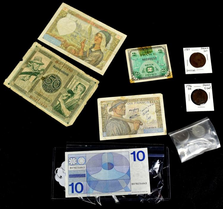 Foreign Coin/Currency Lot