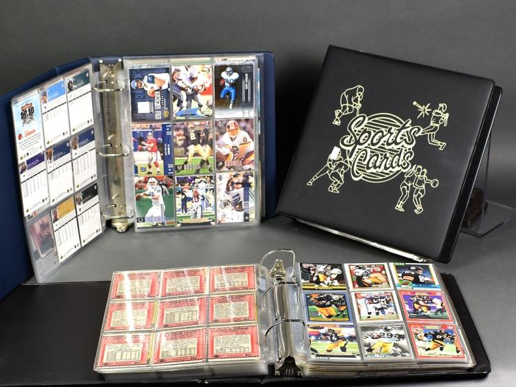 3 Albums of Football Cards
