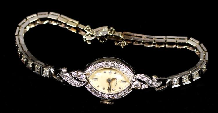 Hamilton 14k W.G. Case / Band Watch 26