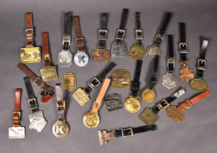 25 Vintage Heavy Equipment Theme Watch Fobs