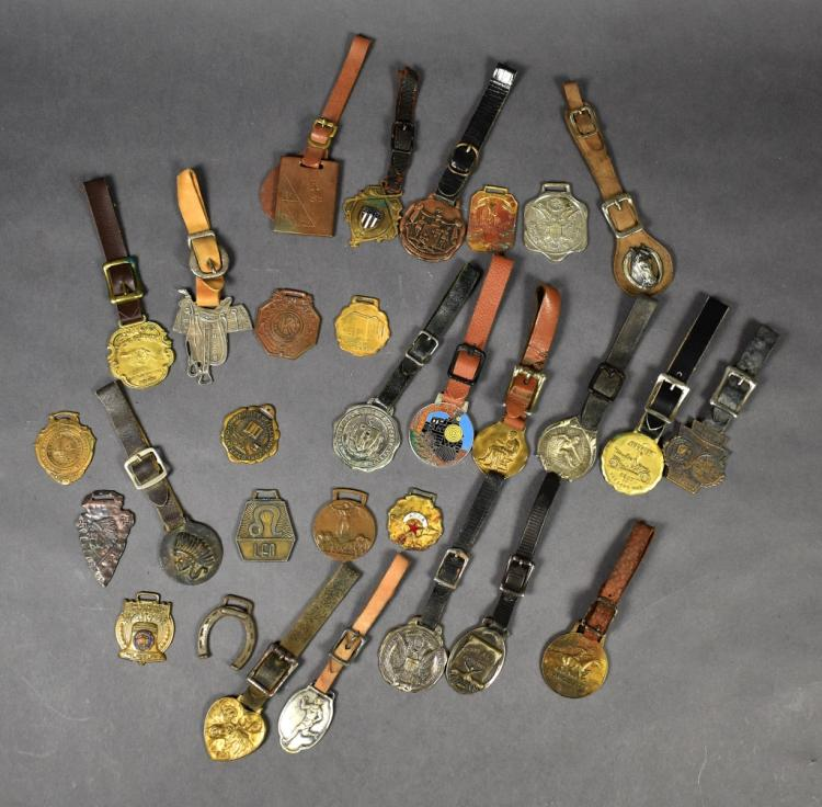 Group of 30 Miscellaneous Watch Fobs