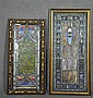 Two Arts and Crafts Stained Glass Panels